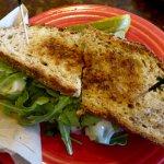 spinach, artichoke, arugula, cheese, sundried tomato pesto