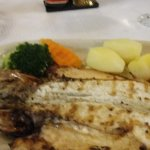 Fresh fish with steamed veggies and potatoes