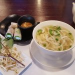 Pho Ga and spring rolls