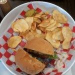 Hamburger Basket with Homemade Chips