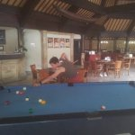 Playing pool in the afternoon