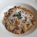Butternut Sqaush Ravioli w/ Brownded Butter, Sage and Walnuts