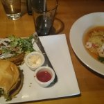 Grilled American Kobe Burger and the special of the day