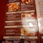carte menu 2016