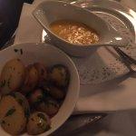 contorno, patate al forno con salsa olandese