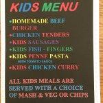 Kids menu 😀😀