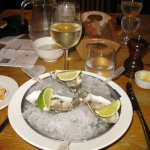 Oysters with tequila and lime shots