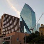 Hotel with Dallas Skyline.