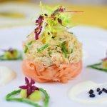 Fresh Crab & Salmon starter