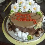 Birthday Cake given to Annie by hotel staff