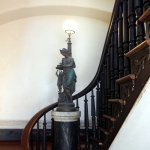 Stairway with beautiful statue at Middle Place Plantation Restaurant