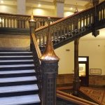 Two story original staircases lined with copper
