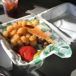 Smokeys Pub & Grill - East Bethel, Minnesota - Pulled Pork Sandwich and Tater Tots