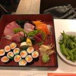 Selection of Sashimi including fat tuna (toro). Breathtaking !!!