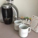 Kapsel Kaffeemaschine auf dem Zimmer