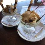 Un delicioso helado en Café Cahuita👍