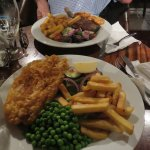 Filete de Ternera y Fish and Chips
