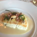Turbot with chestnuts, truffle and champagne