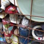 in the garden of broken pottery