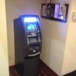 ATM machine in lobby