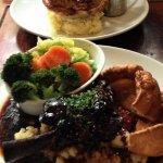 Lamb Shank (fore) Steak & Guiness (back)