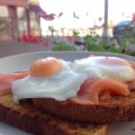 poached egg, salmon & wholemeal toast at Bullet Coffee House, Hastings