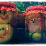 Nice and smiling homemade jars