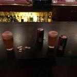 Having a beer at the bar