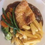 Wonderful steak pie and perfectly cooked fillet