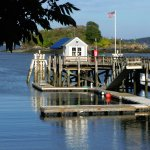 The wharf at Diamond Cove--just a short walk from the restaurant