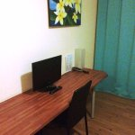 Desk and TV in double room