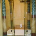 The bathroom in the Egyptian Suite