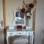 Dressing table, ensuite to left dressing room to the right