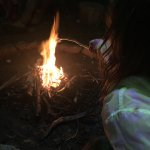 Wildkids afternoon with Tatum - toasting marshmallows on the campfire.
