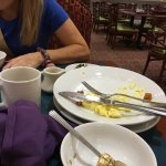 Disgusting service  never cleared plates from day 1 they staff were always to busy talking
