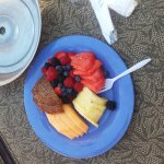 Fruit plate at the pool