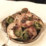 Escargots served in the shell with Garlic and Butter Sauce