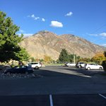 The view from the parking lot to the mountains in Provo.