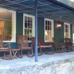 Inn Veranda with Rocking Chairs