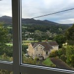 View from room in the morning before we tackled Snowdon