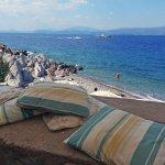 From Castello Cafe looking toward Kamini Beach