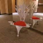 Funky chair in the hallway on the main floor... not that comfortable...