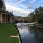 view of Pulteney Bridge from the park