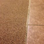 Exposed carpet tack strip
