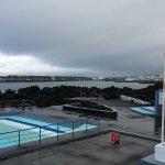 Huge public pool and protected ocean swim area