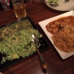 Thai cuisine green and red curries