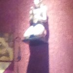 sorry a little blurry but this is one thing they have for the decor in the restaurant