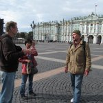 Free tour ouside the Winter Palace / Hermitage