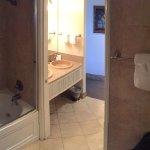 Oceanfront bathroom tub/shower/jetted tub