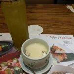 Iced tea and Chawanmushi